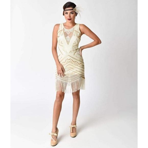 Unique Vintage Dresses 1920s Style Flapper Dress Poshmark